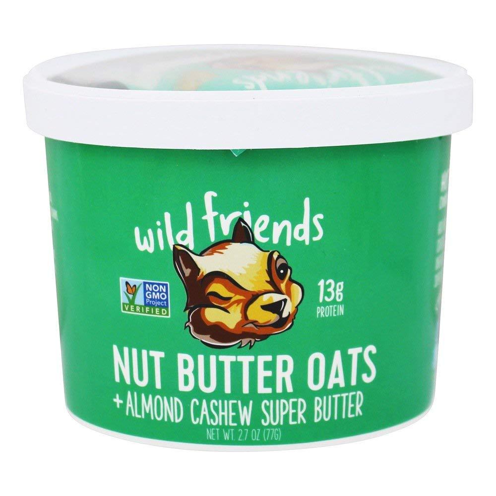 WILD FRIENDS FOODS Almond Cashew Nut Butter Oat Cup, 2.7 OZ