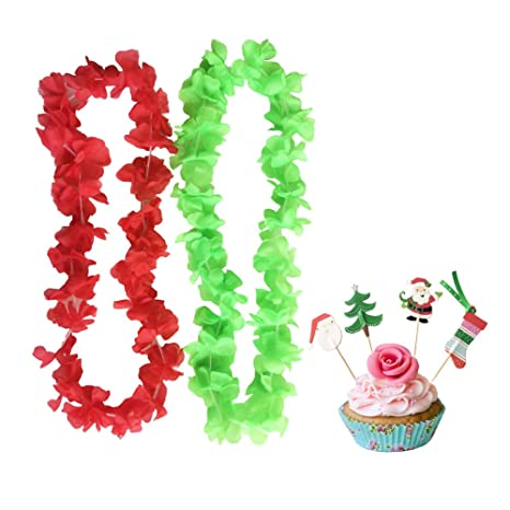 partymaster christmas decorations pack of 10050pcs leis50pcs toothpicksred and
