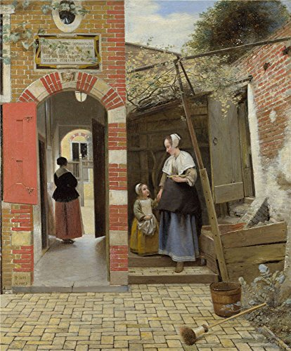 Polyster Canvas ,the Replica Art DecorativePrints On Canvas Of Oil Painting 'Pieter De Hooch The Courtyard Of A House In Delft ', 10 X 12 Inch / 25 X 31 Cm Is Best For Foyer Decoration And Home Decoration And (Sandy The Squirrel Costume)