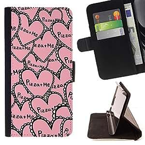 BullDog Case - FOR/Sony Xperia M2 / - / aloha palm tree sea summer ocean /- Monedero de cuero de la PU Llevar cubierta de la caja con el ID Credit Card Slots Flip funda de cuer