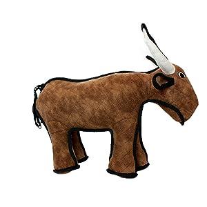 TUFFY Barnyard Animal Bull, Durable Dog Toy, Large