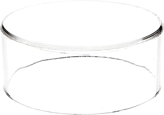 """Plymor Clear Acrylic Round Cylinder Display Riser 1.5/"""" H x 2/"""" D"""