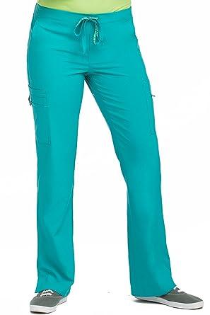 7adbf960fec Med Couture Women's 'Activate' Hi-Definition Cargo Scrub Pant, Aquamarine,  ...