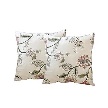 ENZER Funda de sofá Tejido Elástico Flor Pájaro Sofá Proteger Cubre sofá 1 2 3 Plazas (Vid de la flor, Dos almohada abrigo)