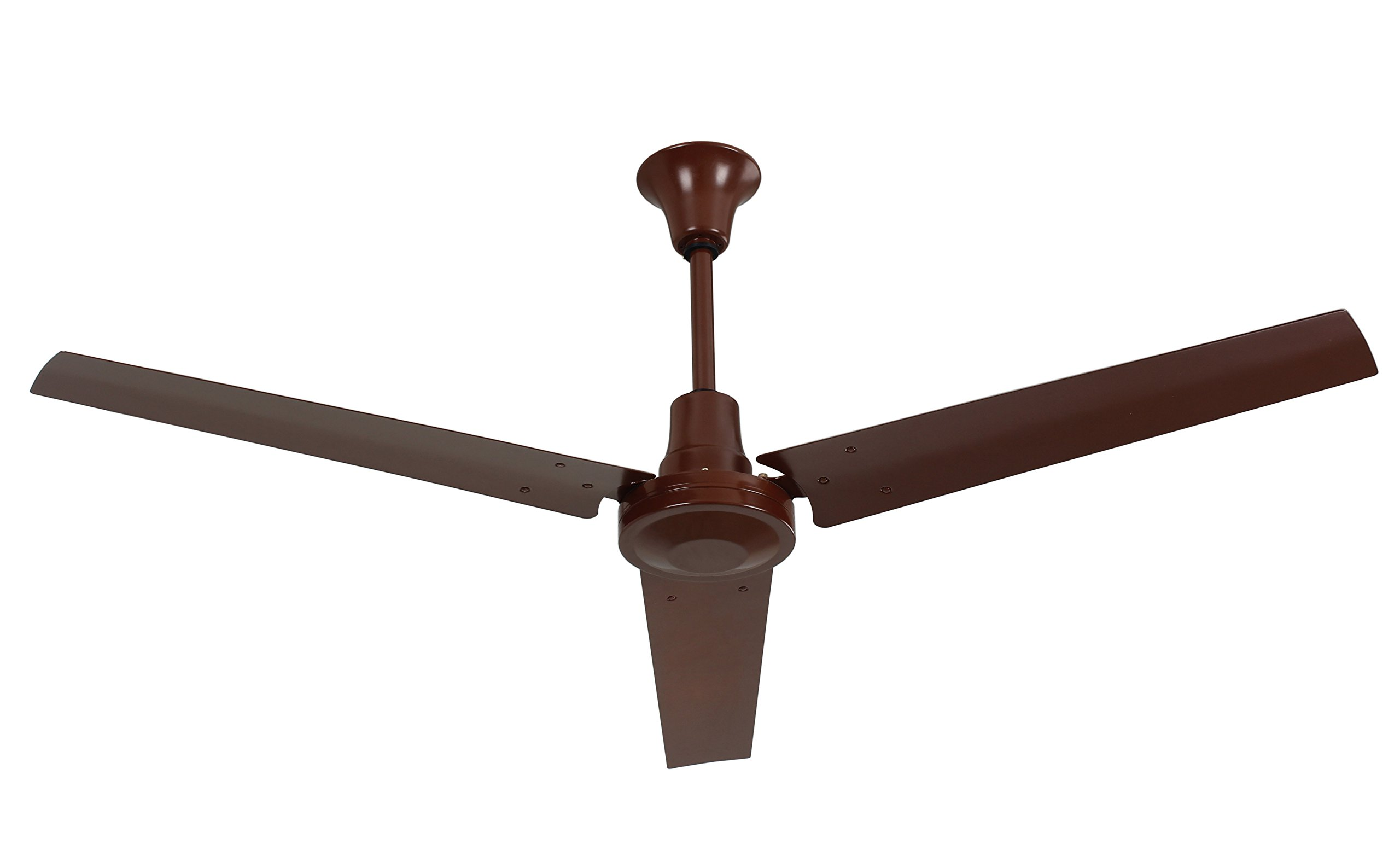 VES Industrial Garage Ceiling Fan with 18-inch Downrod for Indoor (60 Inch, Brown)