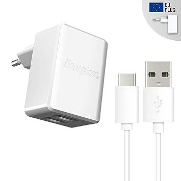 Energizer Cargador de Viaje con Cable Type C 2,4 Amp para ...