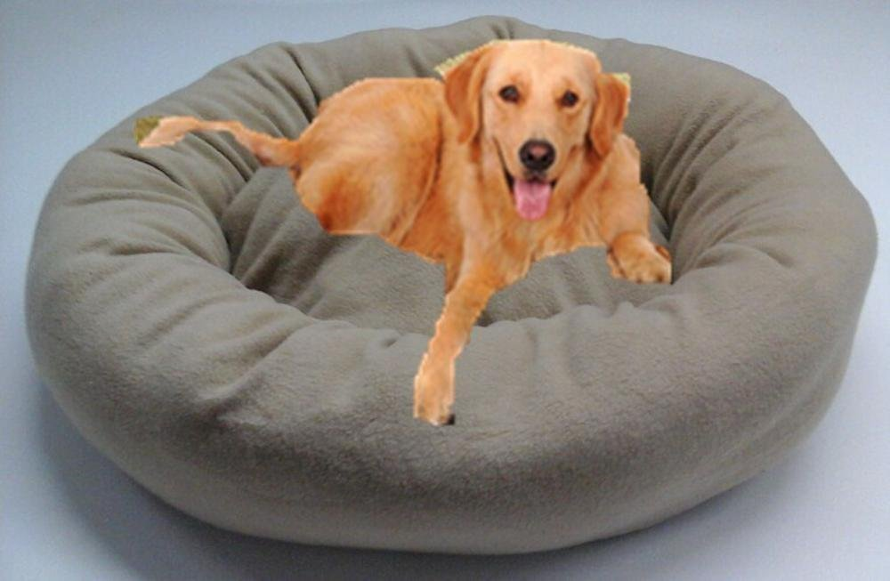 A 70cm A 70cm WUTOLUO Pet Bolster Dog Bed Comfort Cloth can be washed and washed big kennel dog mat (color   A, Size   70cm)