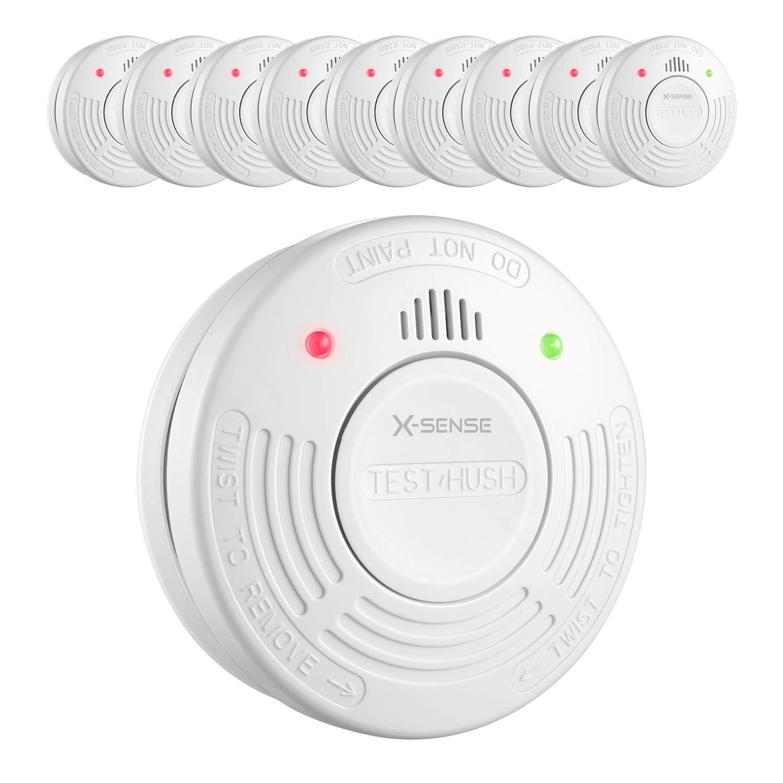 X-Sense SD10A Detector de Humo con Sensor Fotoeléctrico Alarma de Incendio con Batería de 10 Años de Duración Reinicio Automático Fácil Instalación - 10 ...