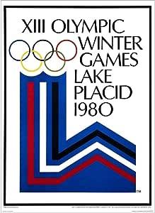 NY Vintage Travel Decal T-Shirt Winter Olympics Snow Ski Lake Placid