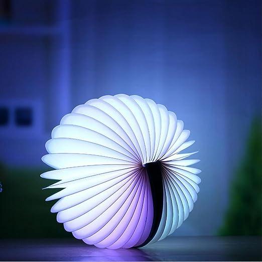 mmcyl Control Remoto libro Luz USB de decorativo luz nocturna, faltendes LED de luz nocturna