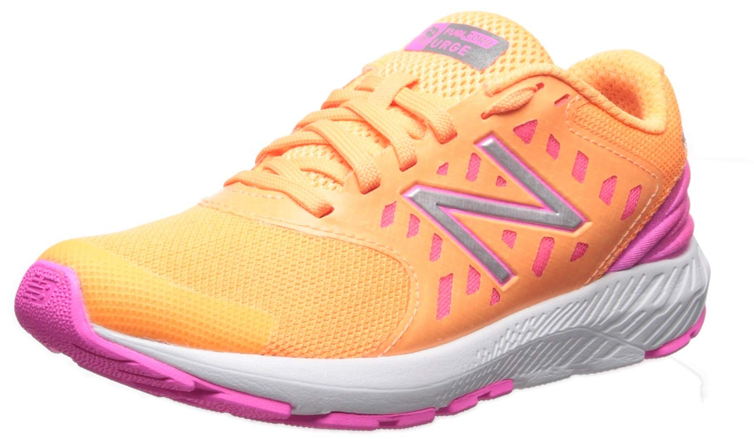 New Balance Girls' Urge V2 FuelCore Running Shoe, mango/light peony, 6 W US Big Kid by New Balance