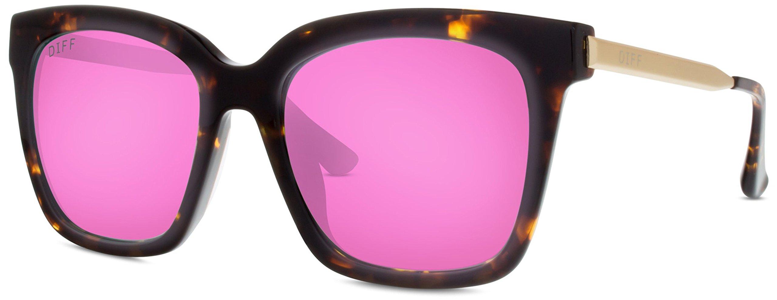 71f0178c6c Details about Designer Sunglasses - Diff Eyewear - Bella - Square Glasses -  100% UVA UVB