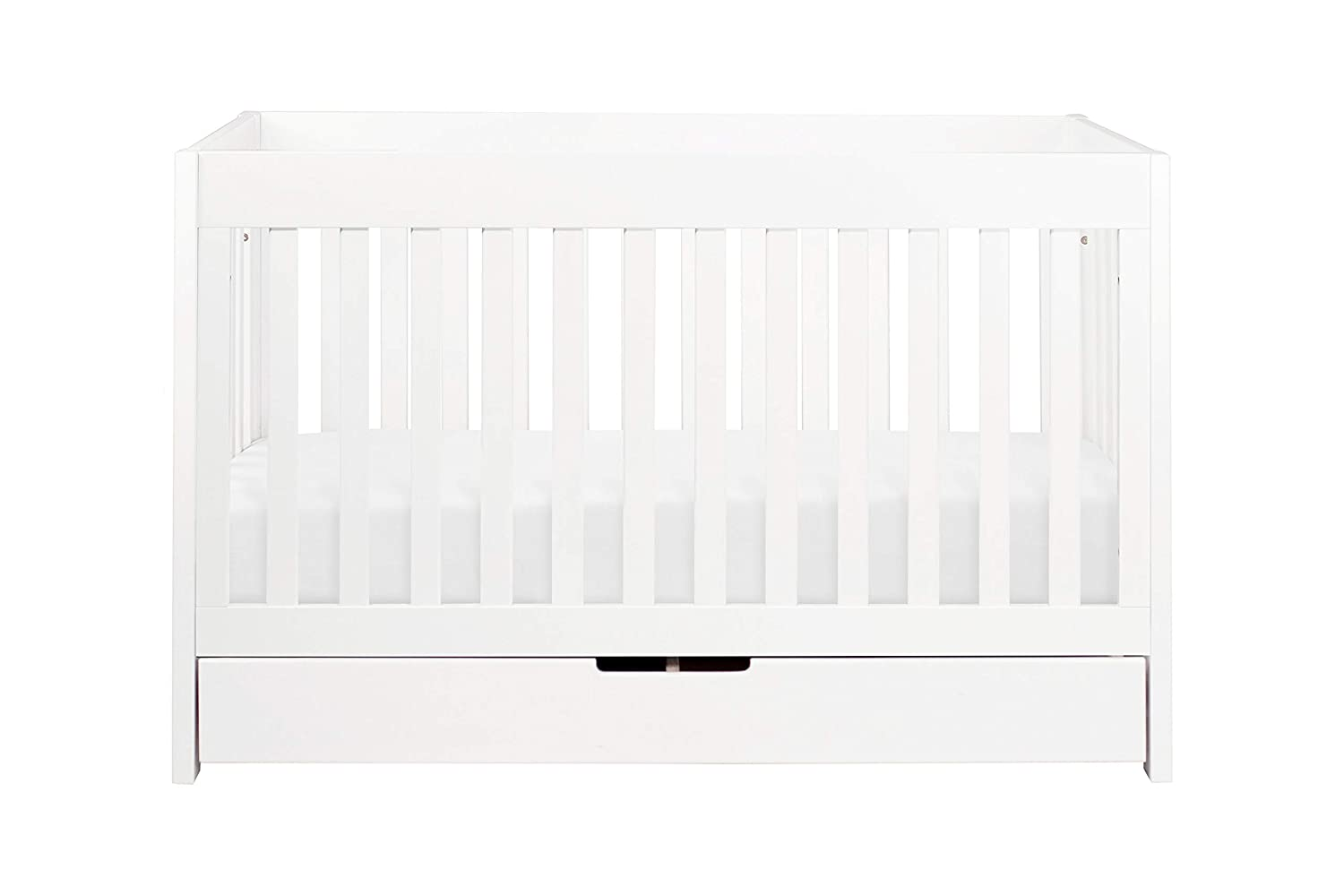 Babyletto Mercer 3-in-1 Convertible Crib with Toddler Bed Conversion Kit Espresso//White