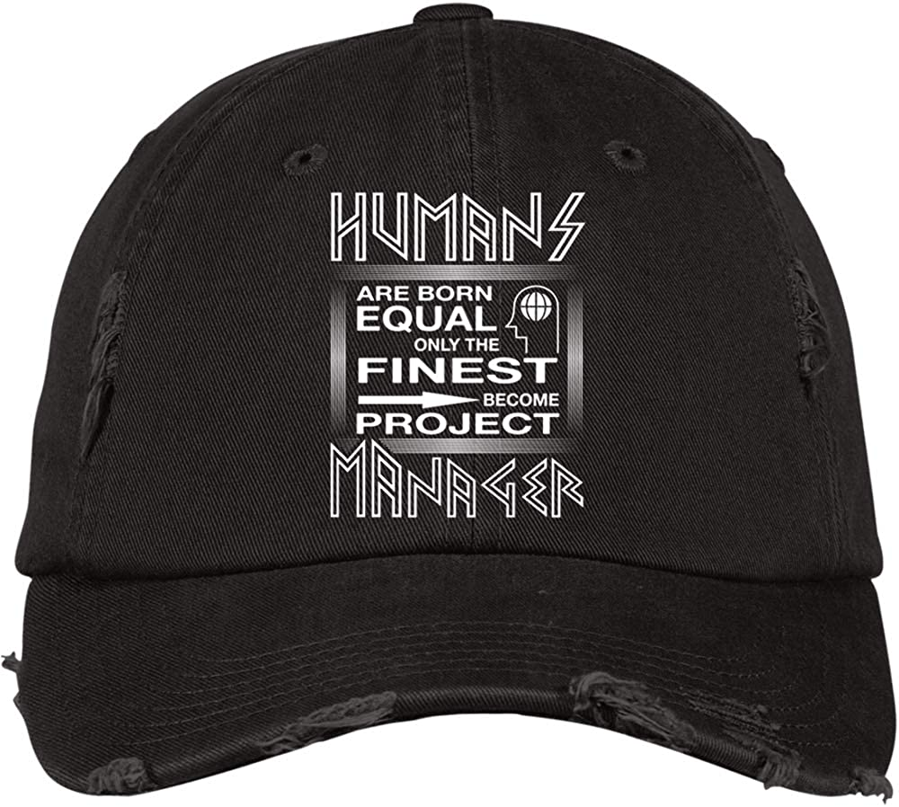 Cool Project Manager District Distressed Dad Cap Humans are Born Equal Hat