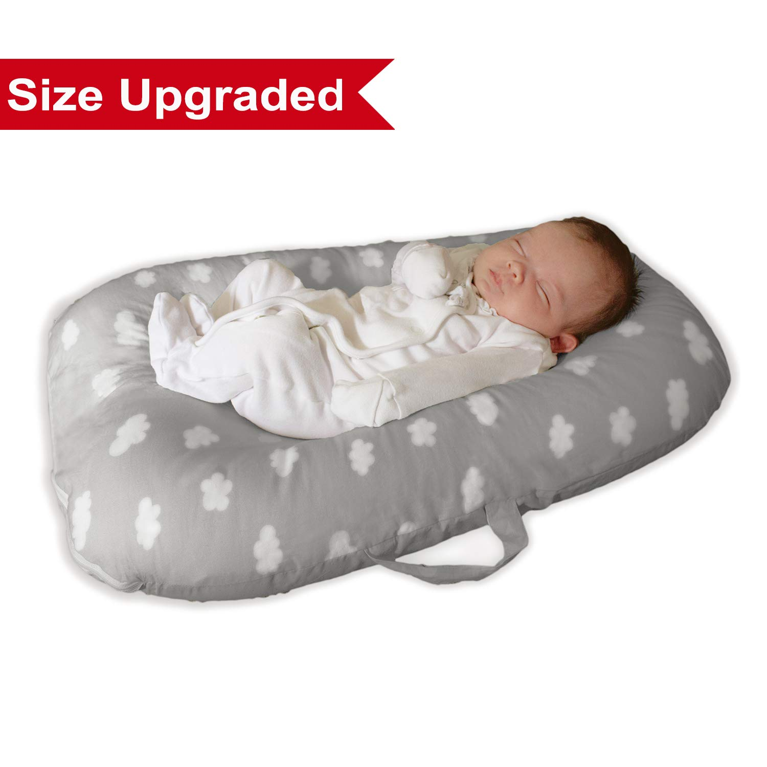 Baby Lounger Bed Bassinet for Baby Shower Gift Portable Infants Crib for 0-6 Months Cotton,Removable cover, Flame Resistant Filling by YGJT by YGJT