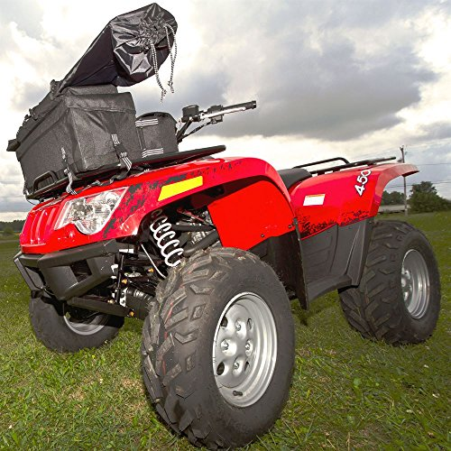 Black Widow Rage Powersports ATV-FRBG-9010 ATV Cargo Rack Gear Bag with 57'' Soft Rifle Case (Front) by Black Widow (Image #1)