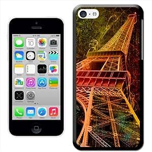 Fancy A Snuggle 'Grunge Look de la torre Eiffel de París' carcasa rígida para Apple iPhone 5C