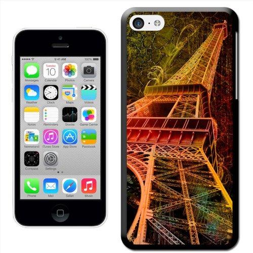 Fancy A Snuggle Coque arrière rigide aspect 'Grunge Tour Eiffel Paris France Coque arrière rigide à clipser pour Apple iPhone 5C
