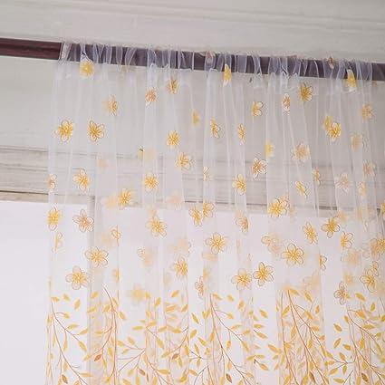 Amazon.com: Iuhan Window Curtain, 1 PC Small Hot Lotus ...