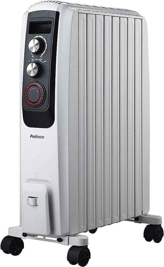 Pro Breeze Radiador de Aceite 2000W - 8 elementos, 3 ...