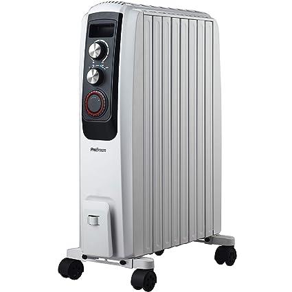 Pro Breeze Radiador de Aceite 2000 W, con 8 Elementos, Temporizador Integrado, 3