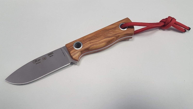 Cuchillo Miguel Nieto YESCA Mini 1048-O Olivo, Cuchillo de Supervivencia Que hará Las delicias de Expertos e iniciados, su tamaño es idóneo para Todas ...