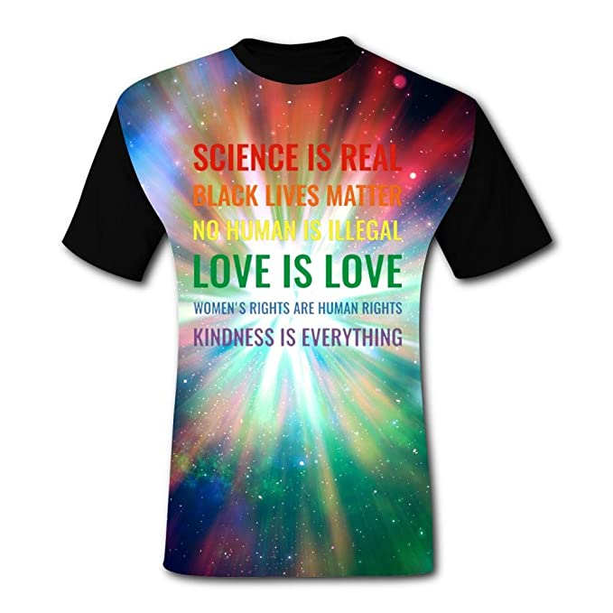 d8b045d4a Amazon.com: Mens Creative Rainbow Quote Graphic Casual T-Shirt Short Sleeve:  Clothing