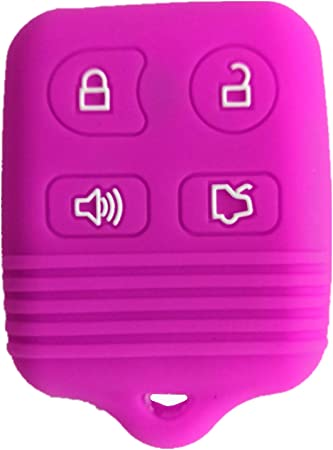 Viole Rpkey Silicone Keyless Entry Remote Control Key Fob Cover Case protector For Ford Mustang Edge Escape Expedition Explorer Focus Escort Lincoln Mercury CWTWB1U331 GQ43VT11T 8S4Z-15K601-AA 5925872