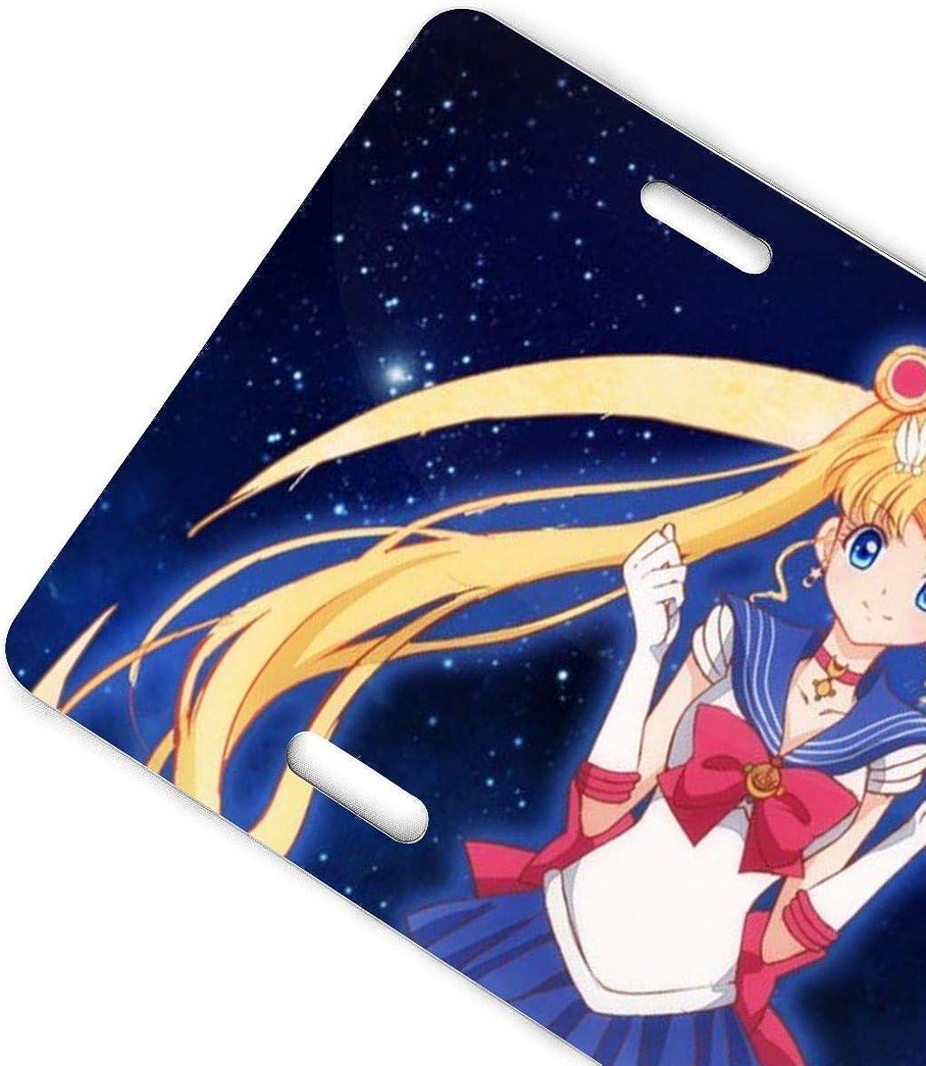 CS-license plate Aluminum License Plates Sailor Moon Transform Locket Cover Thetoon License Plate 6 X 12
