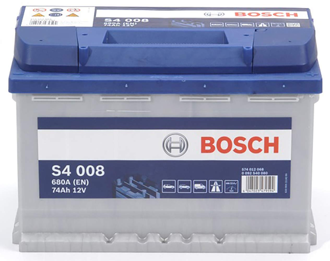 Bosch S4008 Batteria Auto 74A//h-680A