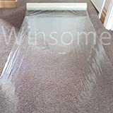 Winsome Clear Carpet Floor Protector Self Adhesive Temporary Protecting Water Resistant Dust Sheet Cover Film Roll