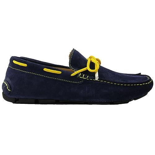 Sartoria Italiana - Massimiliano Sorvino - Mocasines de Ante para Hombre Azul Azul Oscuro Azul Size: 39 EU: Amazon.es: Zapatos y complementos