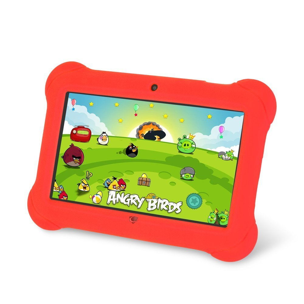 Zeepad Kids TABZ7 Android 4.4 Quad Core Five Point Multi Touch Tablet PC, 7'', 4GB, Kids Edition, Red