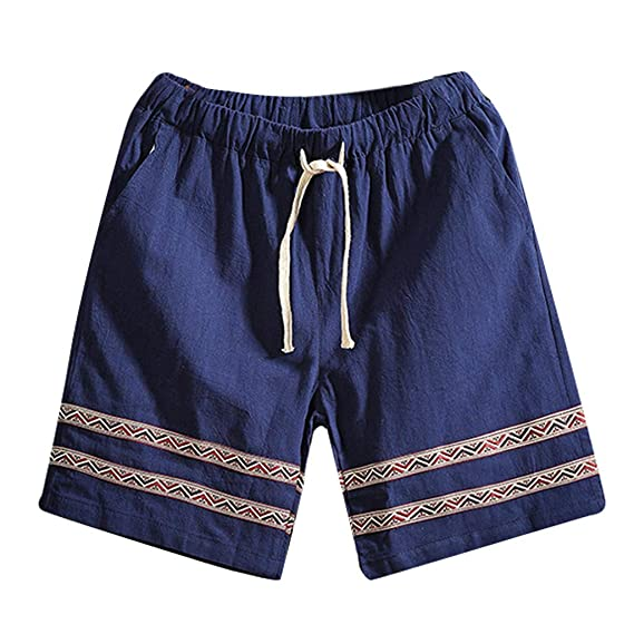 e5c2d29449 Mens 2019 Hot Sale Swim Trunks Cuekondy Summer Casual Vintage Printed  Drawstring Sports Beach Shorts with Pocket: Amazon.ca: Clothing &  Accessories