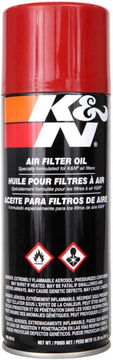 K&N Air Filter Oil: 12.25 Oz Aerosol; Restore Engine Air Filter Performance and Efficiency, 99-0516