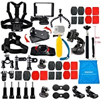 Lifelimit Accessories Starter Kit for Gopro Hero 5/Session/4/3/2/HD Original Black Silver Cameras
