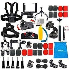 Lifelimit Accessories Starter Kit for Gopro Hero 5/Session/4/3/2/HD Original Black Silver Cameras