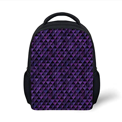 83e34c34ac8 iPrint Kids School Backpack Geometric,Twentieth Century Style Expressionist  Art Vibrant Colored Squares and Triangles