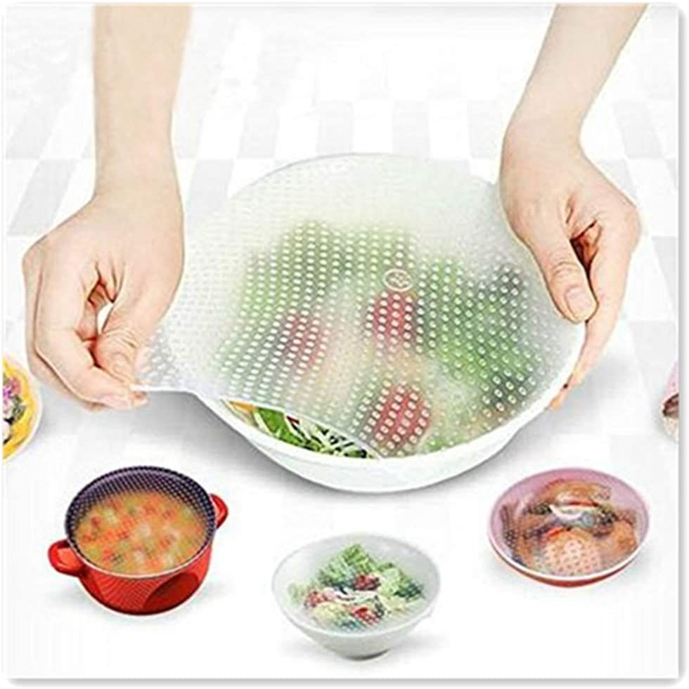Plastic Wrap Seal Vacuum Silicone Food Fresh Wrap Cover Reusable Multi-functions