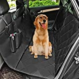 MixMart Dog Car Seat Covers for Back Seat of Cars/Trucks/SUV, 100%Waterproof Dog Car Hammock with Mesh Window, Side Flaps and Dog Seat Belt, Durable Anti-Scratch Nonslip Machine Washable Pet Car Seat