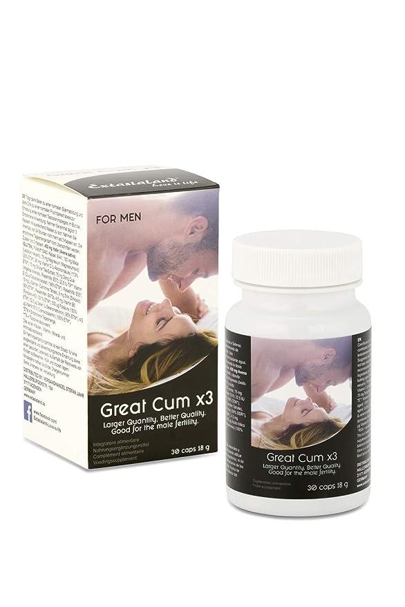 Great Cum x 3 mejora la calidad del esperma aumenta la concentración de espermatozoides optimiza el nivel de testosterona para la fertilidad masculina - 30 ...