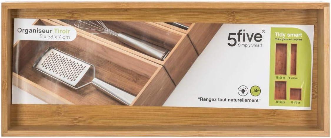 Secret de Gourmet Organiseur de tiroir en bambou TS 15X38X7