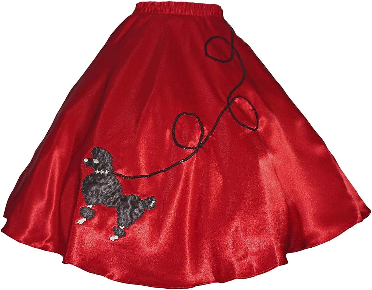 "5 Pc LIGHT BLUE 50/'s Poodle Skirt Outfit Size 1X//3X Waist 40/""-48/"" Length 25/"""