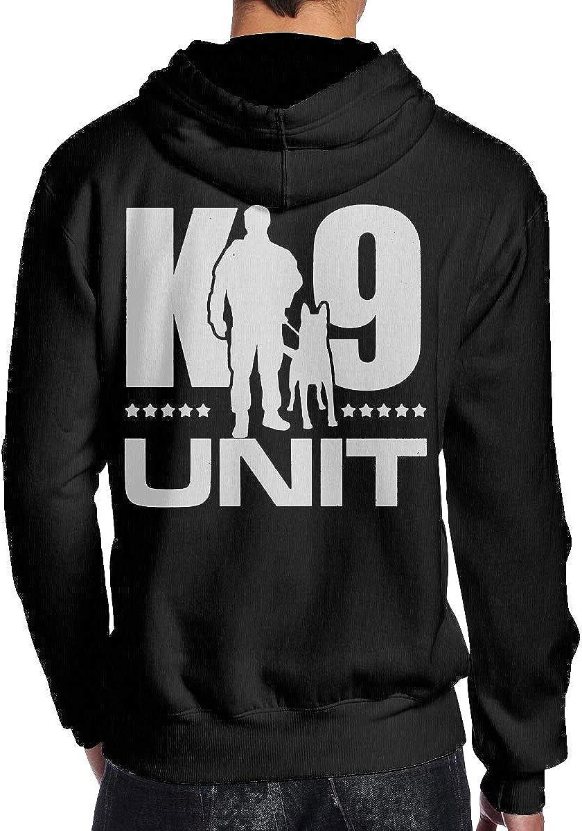 K-9 Unit Police Dog Mens Hoodie Hooded Sweatshirt