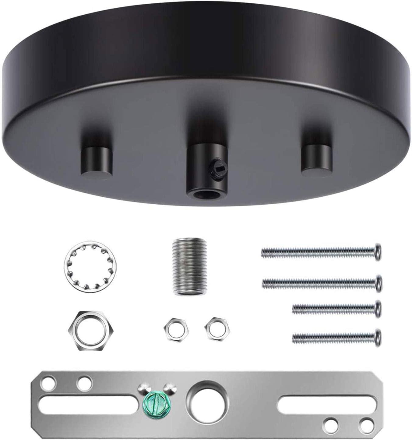Lamp Loft Retro 9-Port Ceiling Canopy Kit Color Cord Swag DIY Industrial Pendant