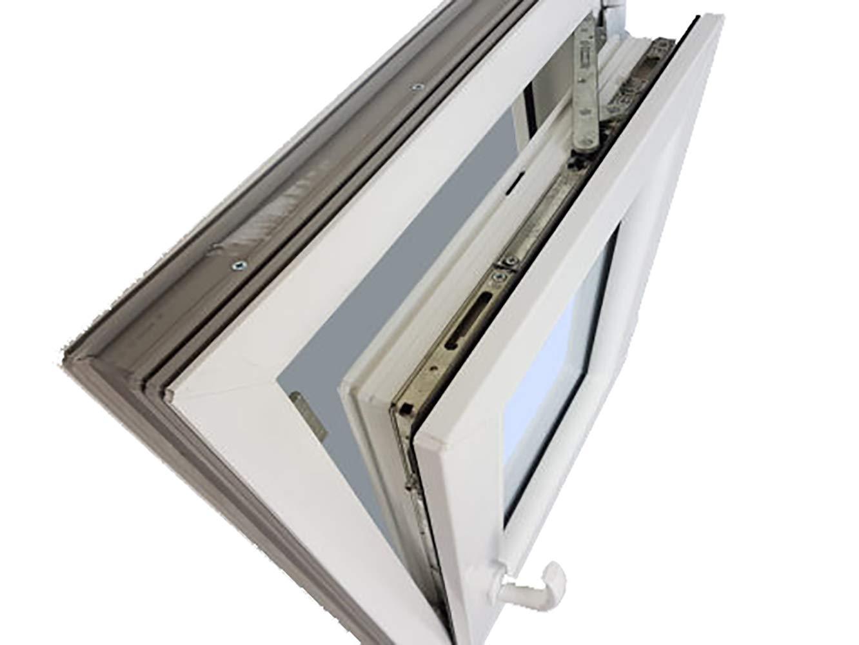 Ventana PVC Practicable Oscilobatiente Derecha 600X500 1 hoja con vidrio Carglass