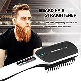 Beard Straightener,Beard Straightener Heat Brush,Hair Straightening Brush for Men and Women Electrical Heated Irons,Auto Temperature Lock,Anti Scald Auto,For Home and Travel