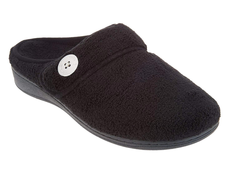 Vionic Women's Indulge Sadie Mule Slipper Ladies Slipper Concealed Orthotic Support