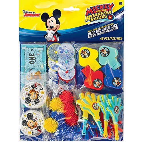 New Amscan Mickey Mouse Party Supplies On The Go Favor Pack (48 pieces) for sale