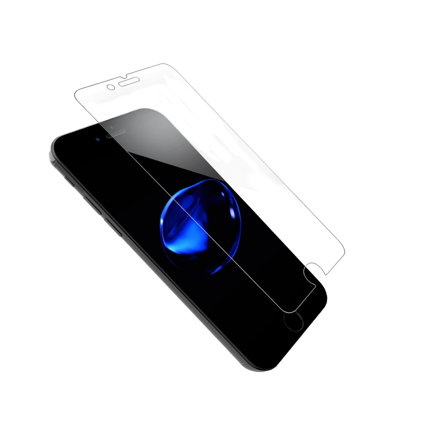 Ultra Clear iPhone 7 Plus Screen Protector SOWTECH 2 Pack Premium Tempered Glass with Scratch Proof HD iPhone 8 Plus Protective Screen Cover with Anti Bubble - Clear